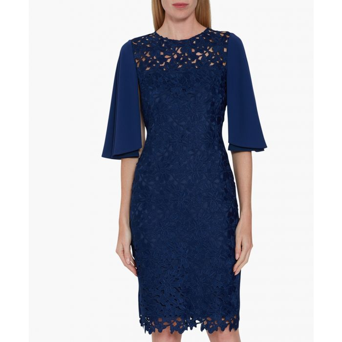 Image for Navy beth guipure dress