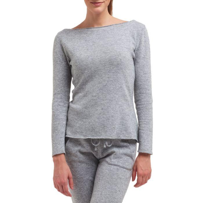 Image for Grey cashmere & wool blend jumper