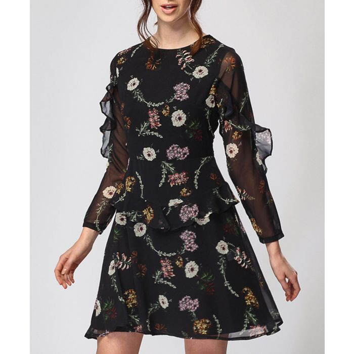 Image for Floral print long sleeve dress