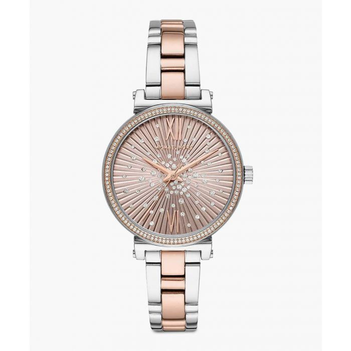 Image for Silver Gold-plated stainless steel watch