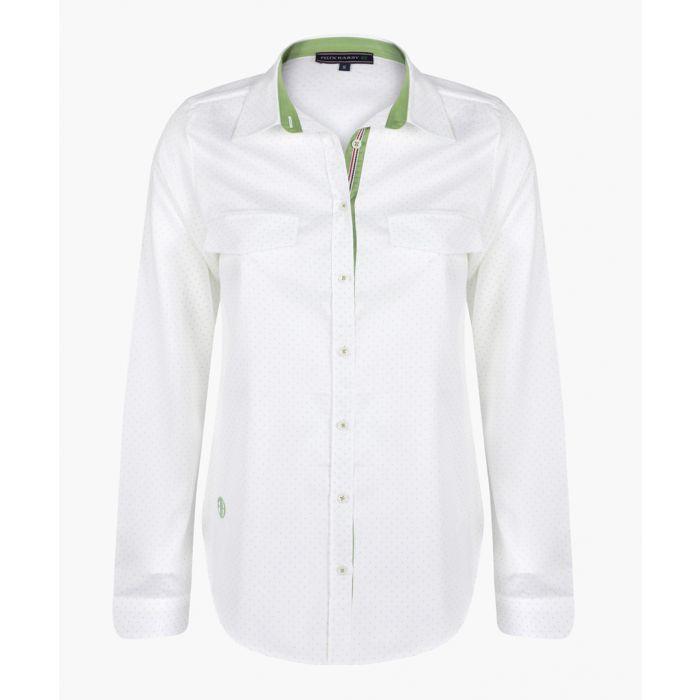 Image for White shirt-Green