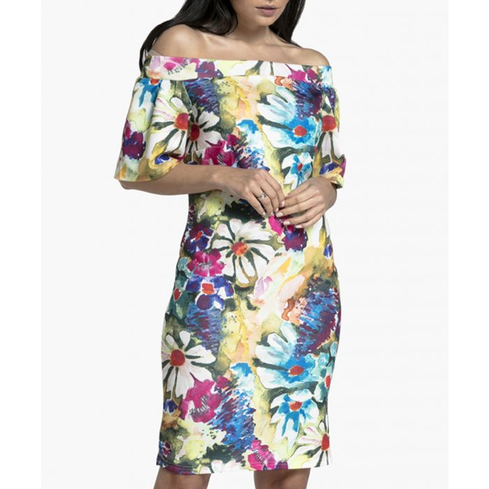 Image for Painted & Flowers Knitted Dress