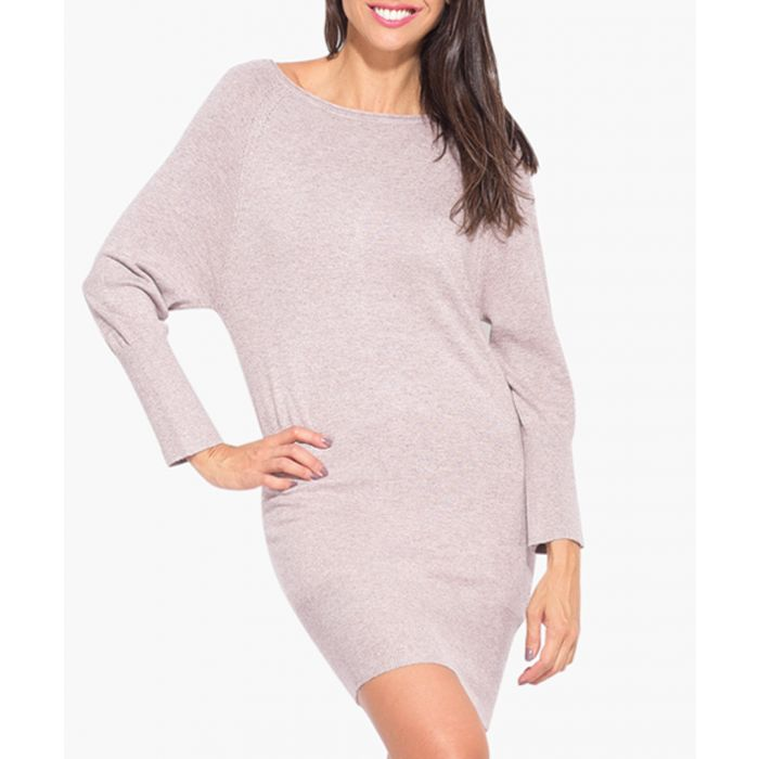 Image for Beige cashmere and silk blend dress