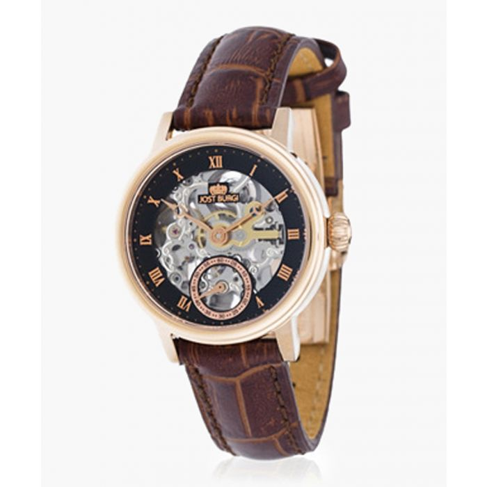 Image for Legacy Femme Skelette brown leather watch