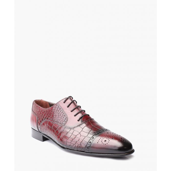 Image for Bordeaux leather Derby shoes