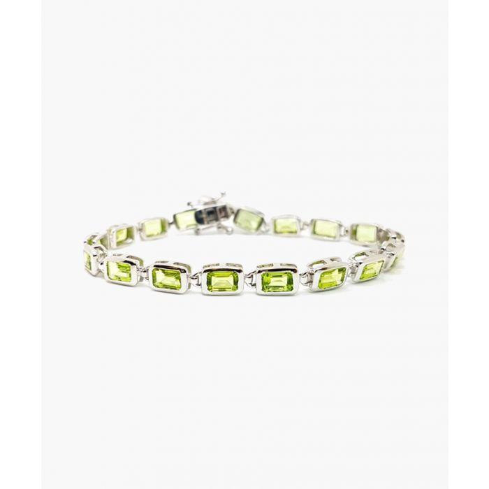Image for 10.60ct emerald and peridot silver bracelet