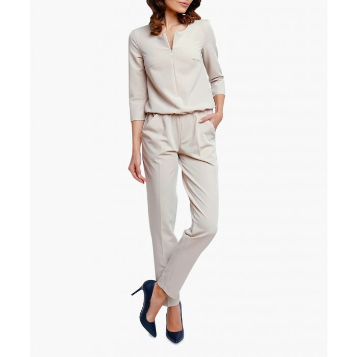 Image for Beige Woven Jumpsuit