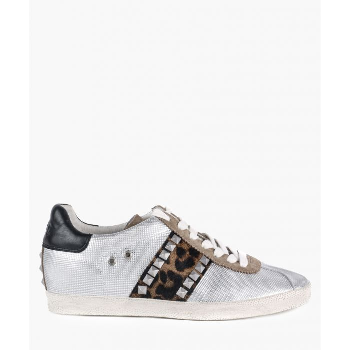 Image for Women's Ginger silver leather sneakers