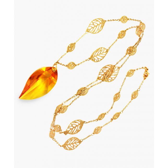Image for Swarovski crystal topaz necklace