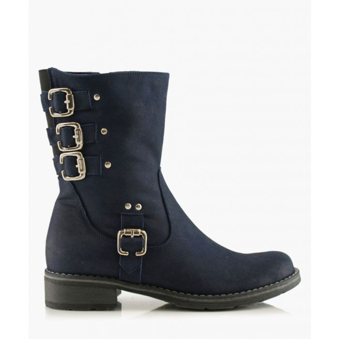 Image for Black buckled boots