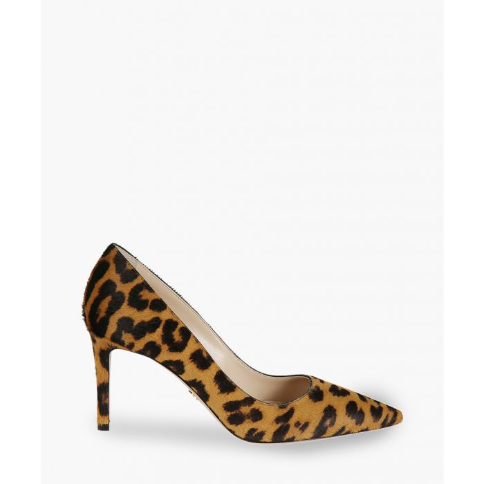 Image for Leopard printed leather heels