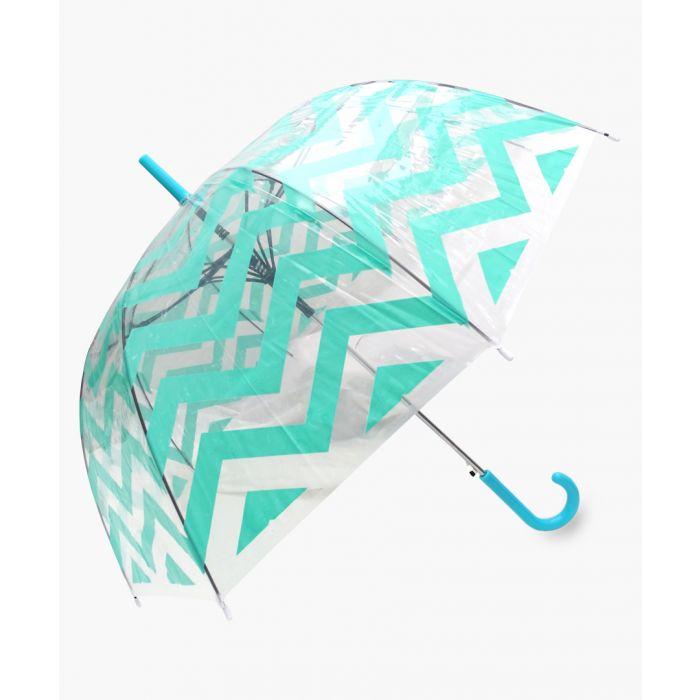 Image for Light green chevron transparent umbrella