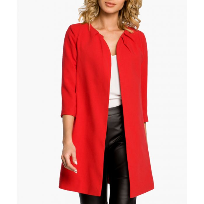 Image for Red wool blend jacket