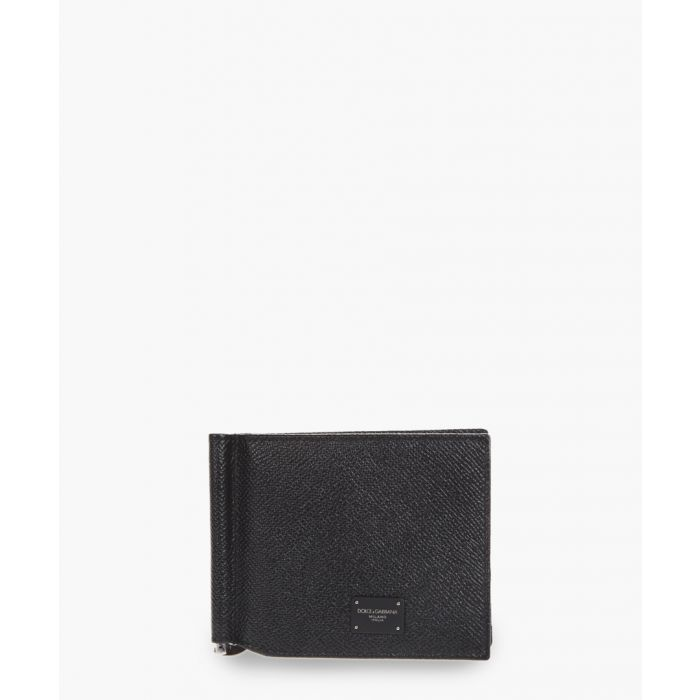 Image for Blsck dauphine leather money clip wallet