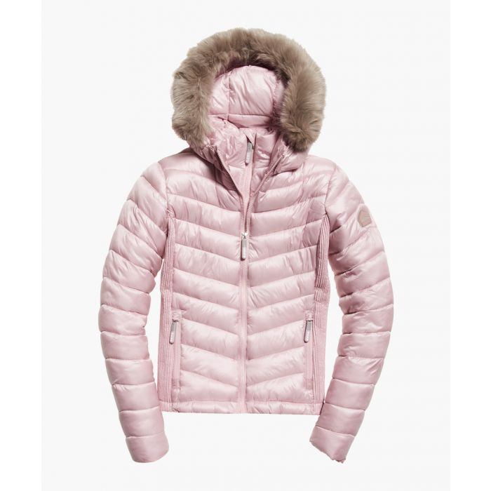 Image for Fuji rose hooded luxe chevron jacket