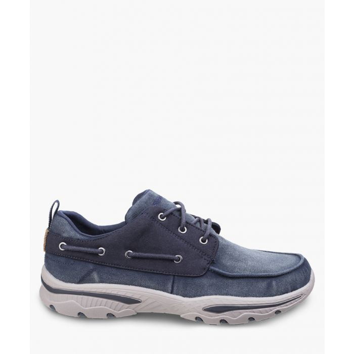 Image for Creston Vosen navy lace-up trainers