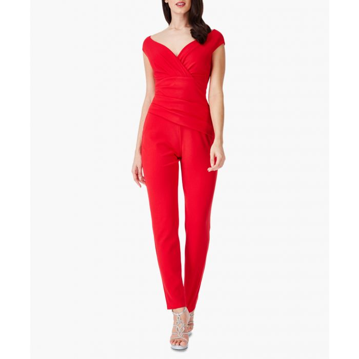 Image for Red bardot jumpsuit