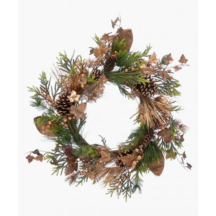 Image for Copper-tone ivy wreath 70cm