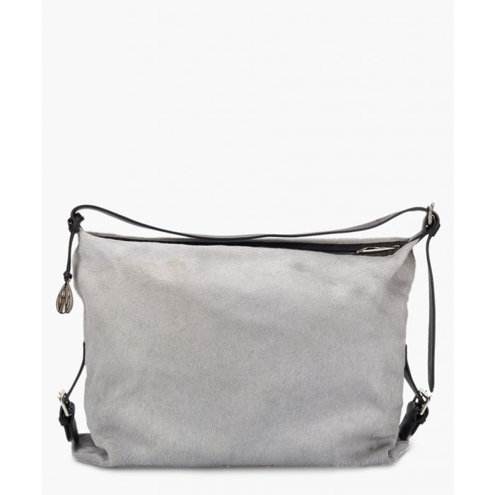 Image for Amanda Wakeley The Costner Pony Bags Sky Grey Pony