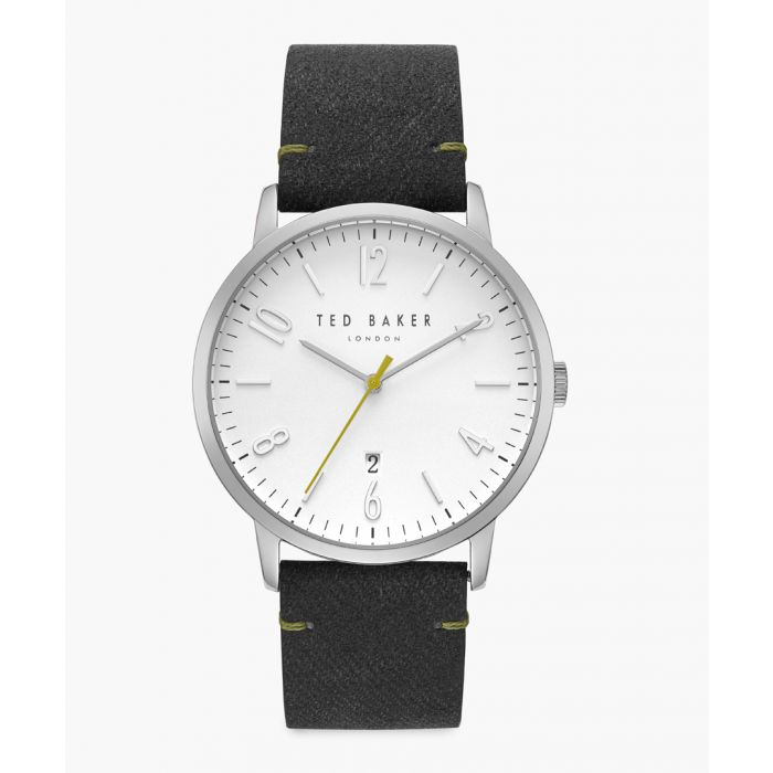 Image for Daniel grey leather and stainless steel watch