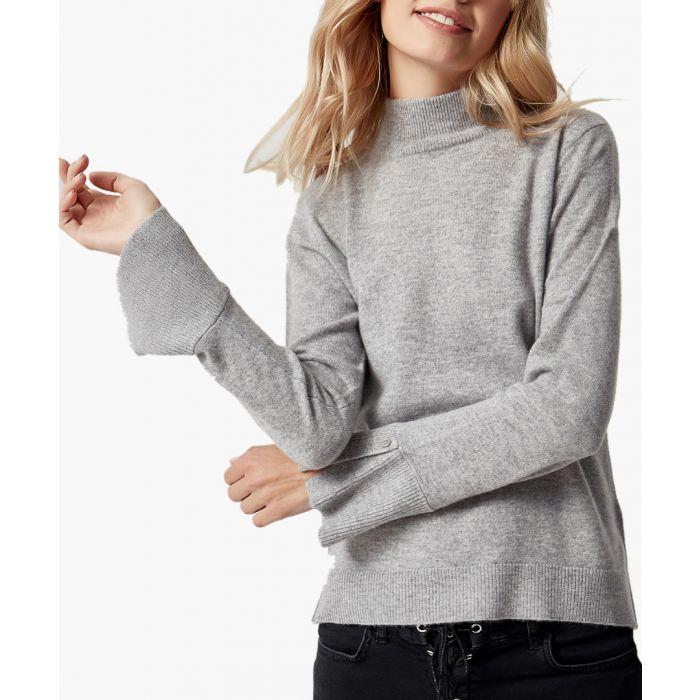 Image for Silver melange pure cashmere jumper