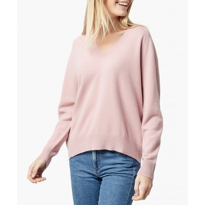 Image for Pink pure cashmere jumper
