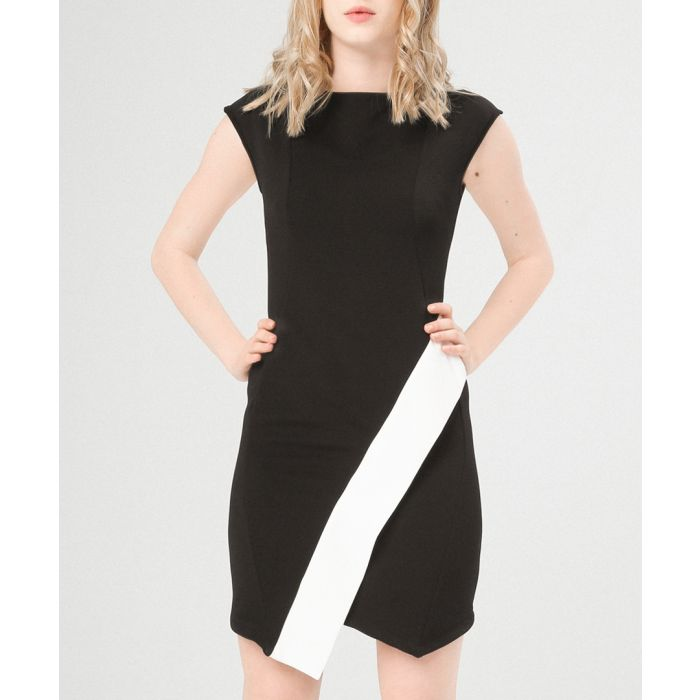 Image for Dulina black and white asymmetric dress