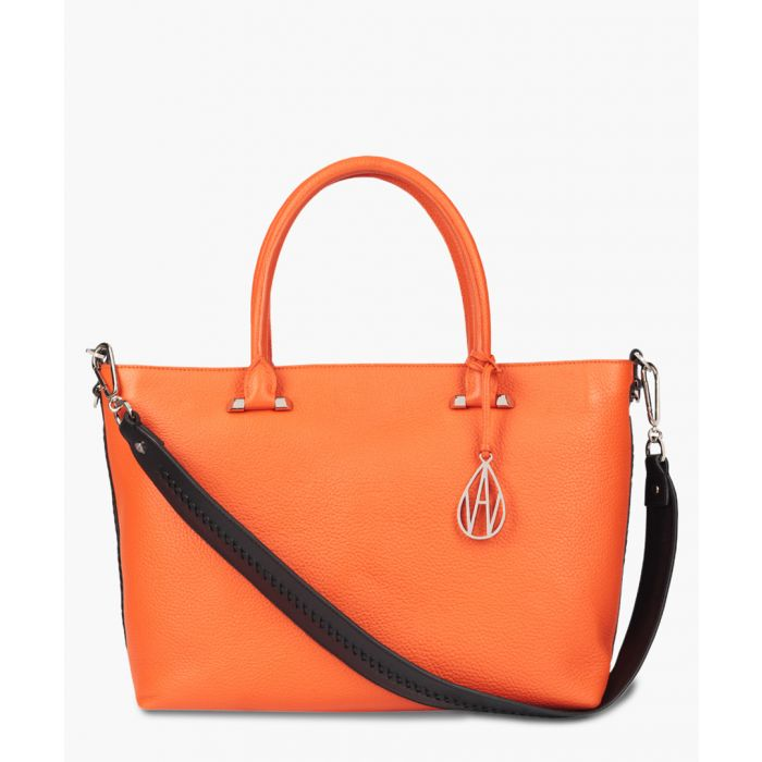 Image for Campbell orange leather tote