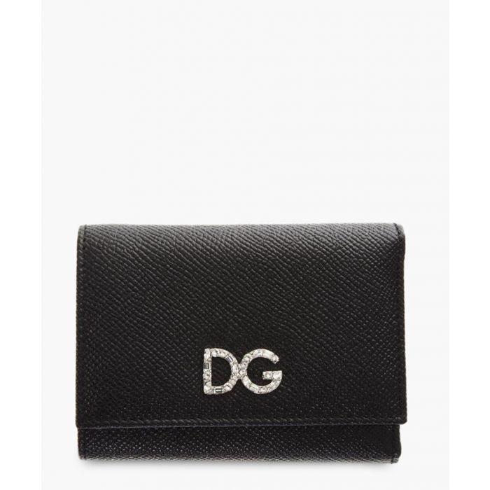 Image for Black leather small continental wallet