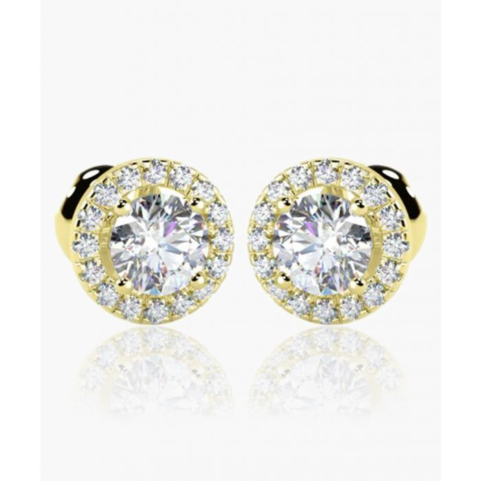 Image for 18k yellow gold and 0.40ct diamond stud earrings