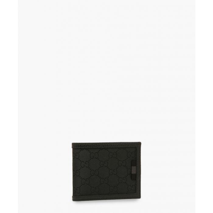 Image for Black canvas monogram wallet
