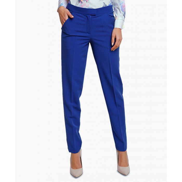 Image for Cobalt woven trousers