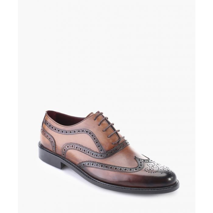Image for Tan leather brogue oxford shoes