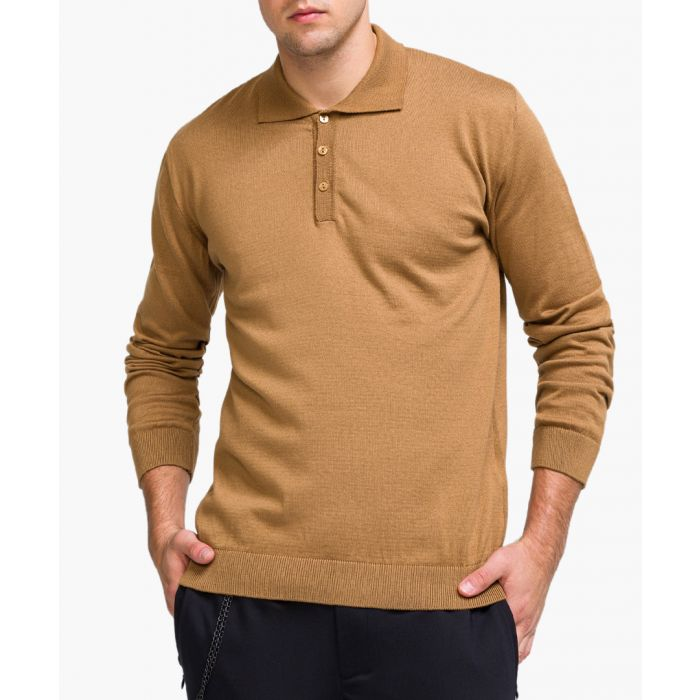 Image for Camel long sleeved polo shirt