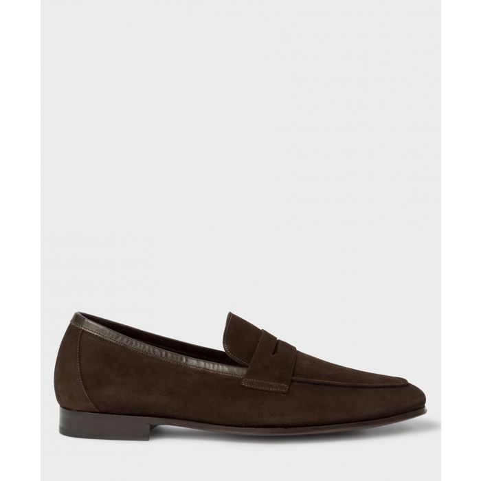 Image for Chocolate suede loafers