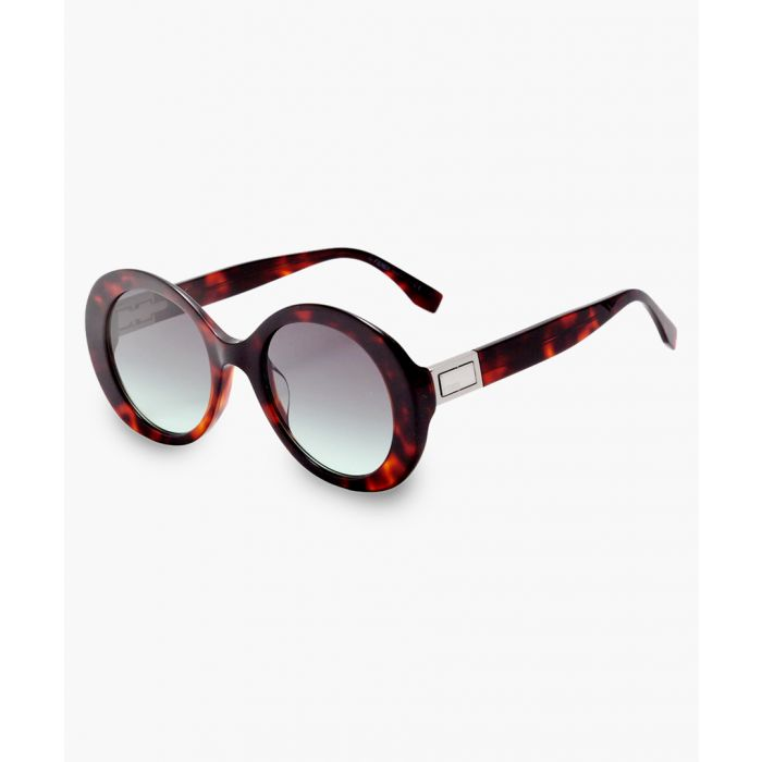 Image for Dark havana and grey green sunglasses