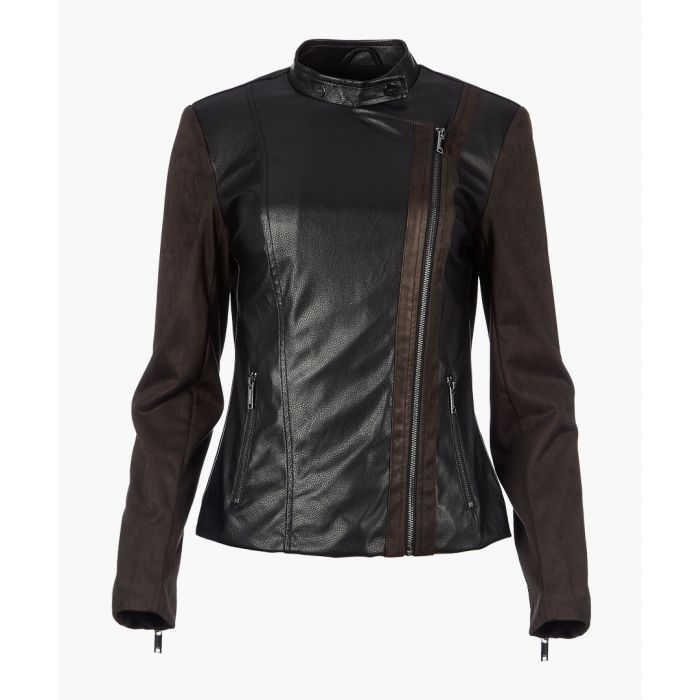 Image for Black faux leather jacket