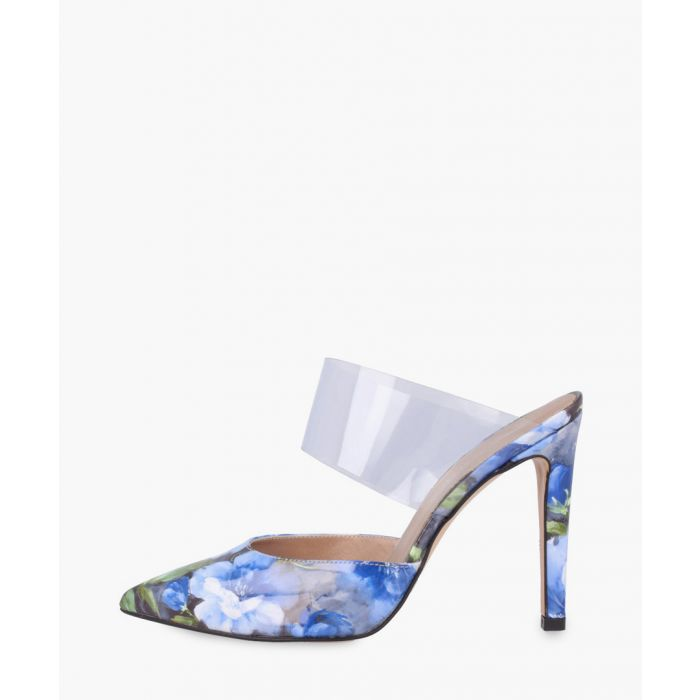Image for Blue leather heels