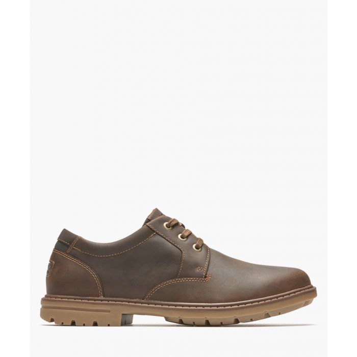 Image for Tough Bucks brown leather shoes