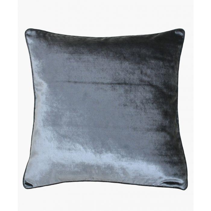 Image for Luxe velvet grey cushion 55x55cm