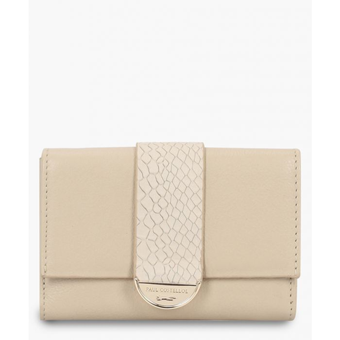 Image for Caspin white leather purse