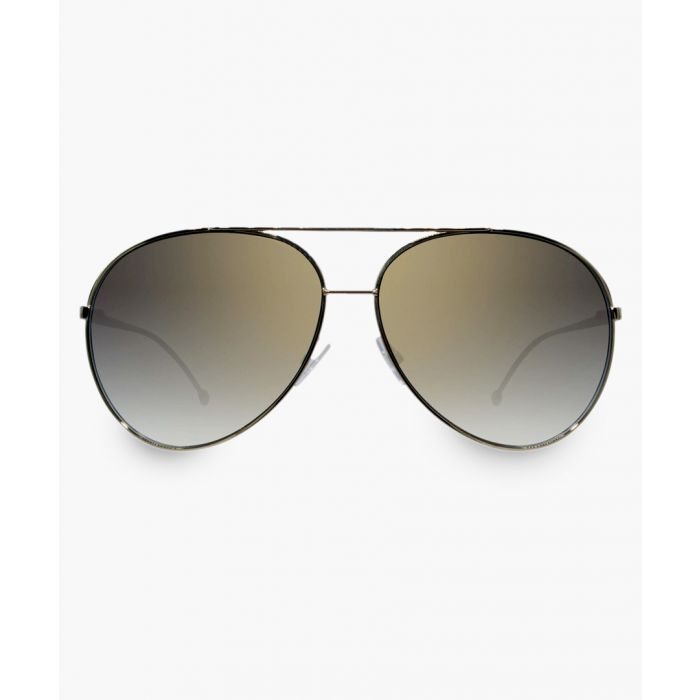 Image for Gold-tone and grey sunglasses