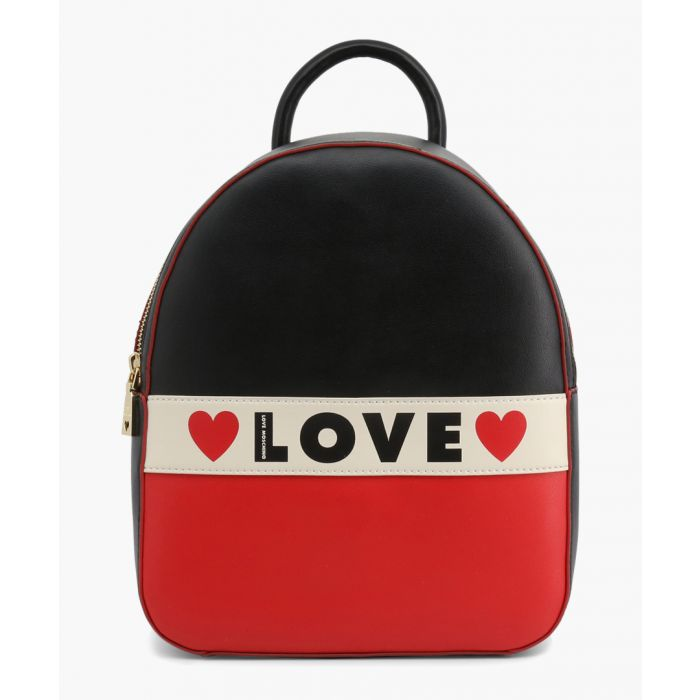Image for Multi-coloured faux-leather backpack