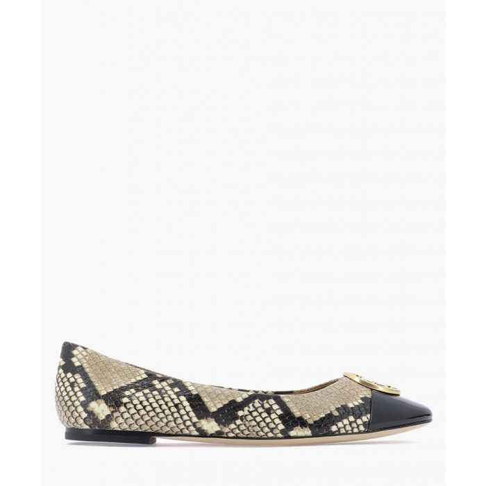 Image for Python leather ballet flats