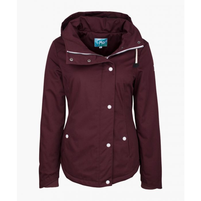 Image for Bordeaux hooded coat