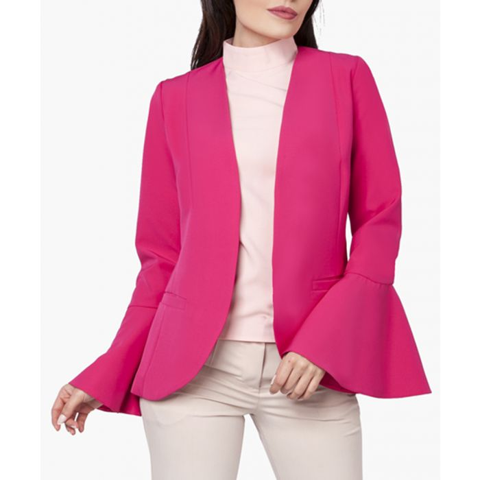 Image for Pink woven blazer