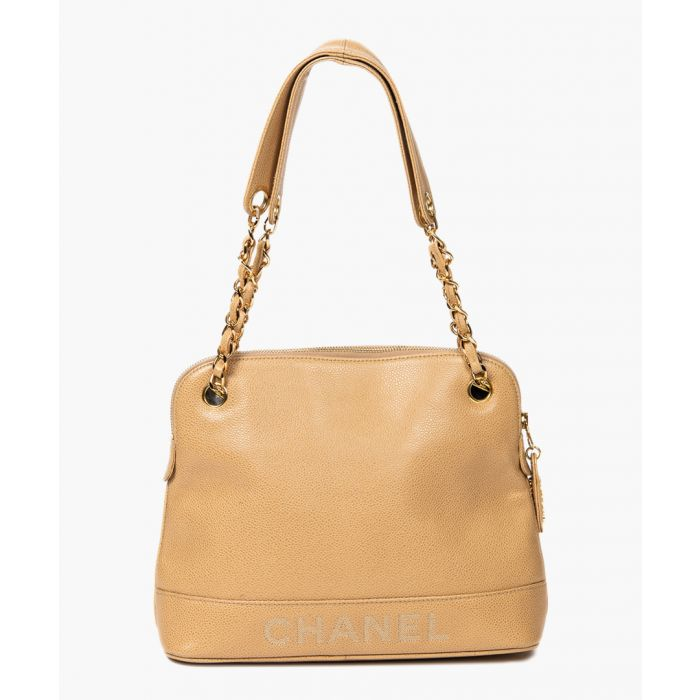 Image for Vintage Trapeze beige logo bag