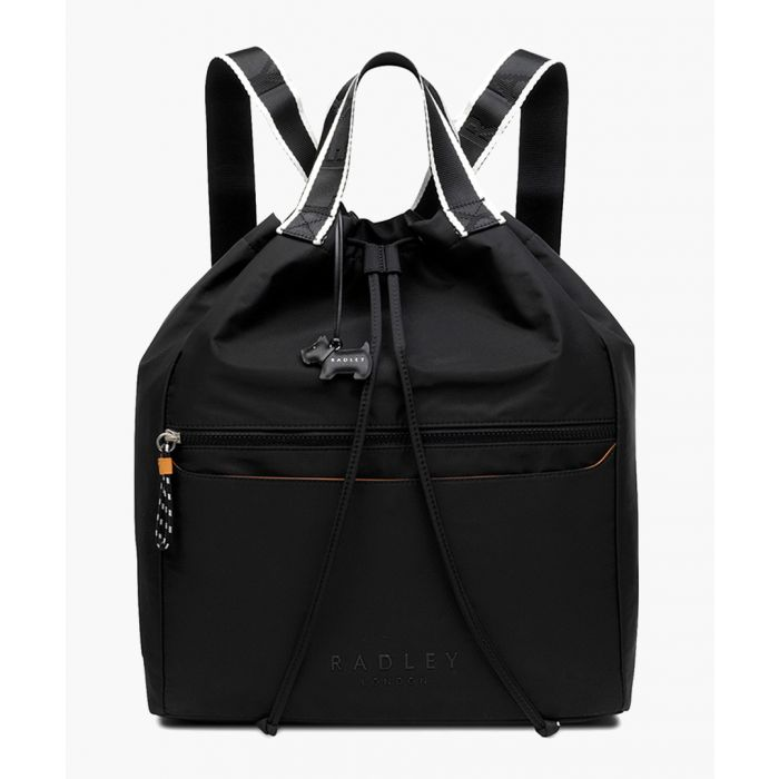 Image for Black drawstring backpack