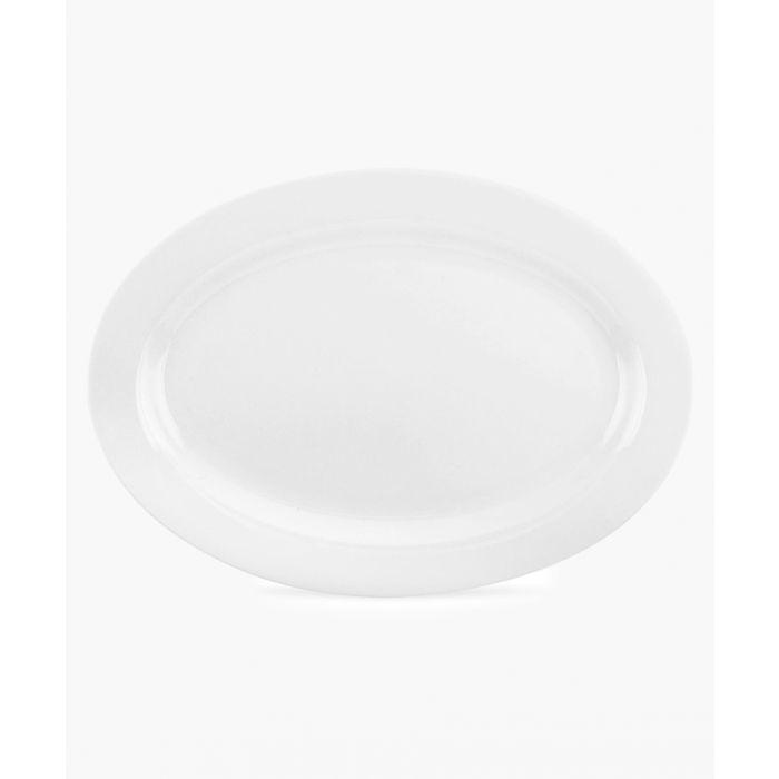 Image for Serendipity plain white bone china oval platter