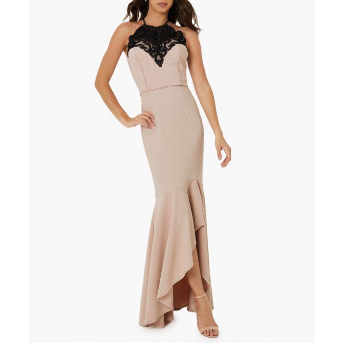 Image for Black artwork midi dress